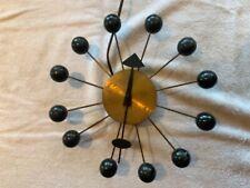 Vintage George Nelson Black/Gold Ball Clock Howard Miller Mid Century Mod. #4755