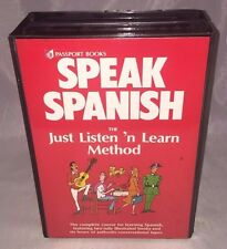 Speak Spanish Passport Books Just Listen 'n Learn Method Book Cassette Tape Set
