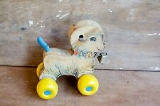 Vintage Fisher Price Little Lamb Pull Toy Antique Kid Child Wood toy