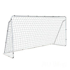 12x6' Steel Soccer Goal W/ Net Youth Size Quick&Easy Setup for Football Training