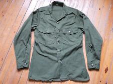 NEW REAL us army OG 107 BDU shirt od 100% cotton vietnam 15 1/2 X 33 1968 S