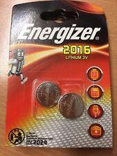 Doble Pack 2 Baterías Energizer CR2016 3v Pilas de Botón Litio Exp 7/2024