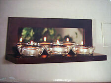 Beautiful wooden shelf candle holder with mirror - NEW - LQQK
