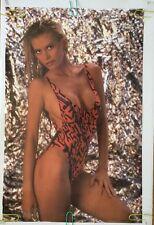 Vintage Poster Sandra Wild Sexy Girl  Beach Pin-up Bikini College Dorm Room 1991