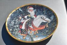 1994 Lenox The Magic Of Christmas Plate Lt Ed Santa Of The Northern Forest
