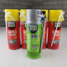 4 Cans 12 Oz Dow Great Stuff Gaps Amp Cracks 1 Can 12 Oz Pest Block