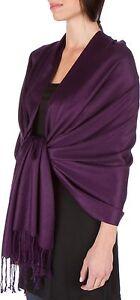 plain colored soft/shiny SILK effect pashmina shawl/wrap-SILK touch
