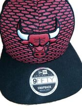 9Fifty New Era Chicago Bulls Snapback Medium-Large NBA Black/Red Mint Condition