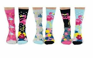 United Oddsocks Flamingo Ladies Novelty OddSocks - UK 4-8 - Great Womens Gift