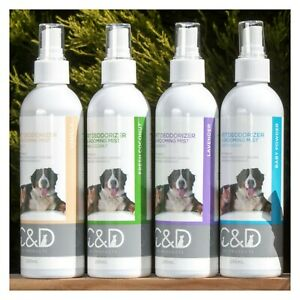 NATURAL PET DEODORIZER GROOMING MIST DOG CAT COLOGNE BEDDING DEODORANT - 250ml