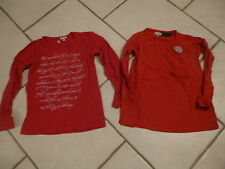 "2 TEE SHIRTS A MANCHES LONGUES "" NEUFS "" TAILLE 9 /10 ANS MAGNIFIQUE !!!!"