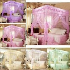 Home Decor 4 Corner Post Bed Canopy Mosquito Net King Queen Double Twin Netting