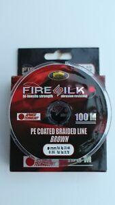 FISHING BRAID - FIRE SILK PE COATED BRAIDED LINE - 100M