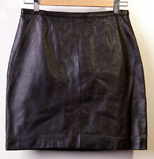 MIXIT Real Leather Skirt Womens Black Size 6