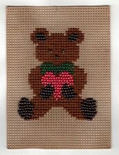 Crafts - Beading - Perforated Paper - Bear - Completed and Ready for Framing