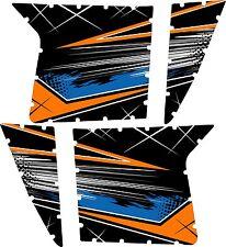 Pro Armor Door Graphics Kit Polaris RZR S XP 900 Orange Mad Blue White No Cuts