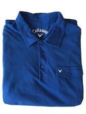 CALLAWAY Golf Polo Shirt 100% Cotton Baumwolle - Colour Blue, Size UK L
