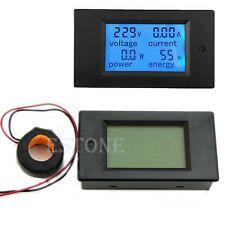 AC 80-260V 100A LCD Digital Volt Watt Power Meter Ammeter Voltmeter 220V 110V