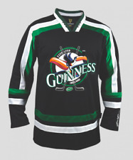 Guinness Toucan Black & Green Embroidered Men's Hockey Jersey Irish Ireland New