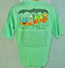 Vintage 80's Pee Wee Herman Official Brand Tee Shirt What To Do On A Rainy Day