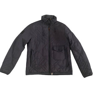 Mens PRETTY GREEN Grey Hooded Padded Jacket Coat Large - Liam Gallagher