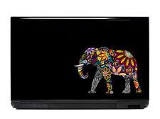 Ornate Elephant Vinyl Laptop or Automotive Art sticker decal computer Multicolor