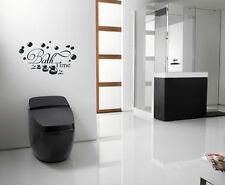 Hora Del Baño Ducha WC Húmedo adhesivo para habitación pared imagen