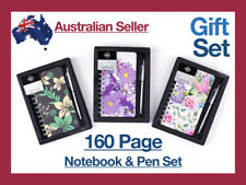 160pg Notebook Gift Set Pen Hard Cover Journal Paper Birthday Present Girlfriend