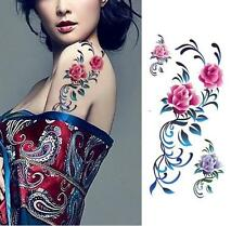 Removable Stickers Women Body Art Tattoo Waterproof Temp Tattoo--Rose Vines