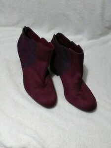 Ladies Purple Ankle Boots, UK size 10, 3.25 inch chunky heel