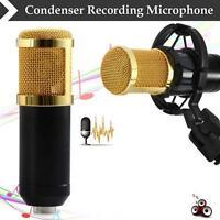BM800 Condenser Pro Audio Microphone Black Sound Studio Dynamic Mic + Mount FZ