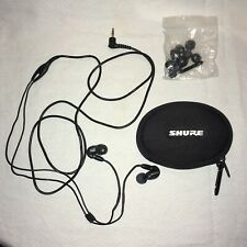 Shure SE215 Black In-Ear Stereo Earphones with Remote Cable SE 215 Headphones