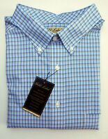 NWT Gold Label Roundtree York Tan Blue Check LS Men Shirt Big Tall Many Sizes
