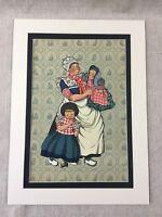 1932 Art Deco Stampa Olandese Moda Spakenburg Costume Vintage Illustrazione L