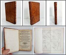 LA CAILLE, Leçons élémentaires de Mécanique ou Traité abrégé de Mouvement, 1757