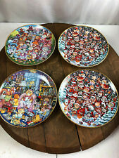 Lot of 4 Franklin Mint Heirloom Cat Collector Plates by Bill Bell