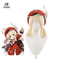 Game Genshin Impact Klee Cosplay Wigs Ponytails Beige Blonde Short Womens Wig