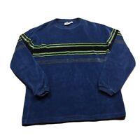 90s VTG STRIPED VELOUR Long Sleeve T Shirt Adult S Skateboarding Skate Youth XL