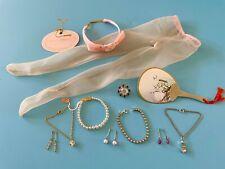 Vintage Doll Accessories: Jewelry Fan Stockings Lot Mme Cissy, Miss Revlon Toni