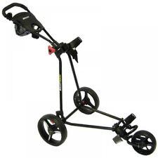 Bullet Black 5000 Deluxe 3 Wheeled Folding Golf Trolley Roller Cart XBU420302