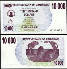 Zimbabwe 10000 10,000 Dollars 2007, UNC, P-46b, Bearer Cheque