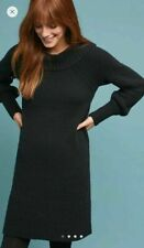 New Anthropologie Black Rhyme Sweater Dress by Anthropologie. Medium