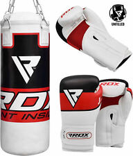 RDX Punching Bag Kids Fitness Junior Leather Training Youth Sports MMA Punch Red