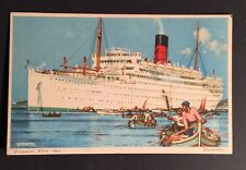 Postcard Ship Carinthia Cunard White Star Line Signed Vintage Unused