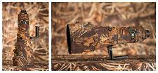 Nikon Nikkor 400 2.8 VR neoprene lens cover camouflage lens coat