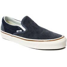 Men's Size 9 VANS Athletic Skate Shoes Sneakers Classic Slip-On Navy Blue