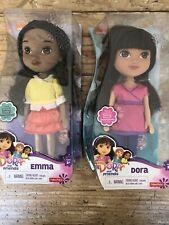 Fisher-Price Nickelodeon Dora and Friends Dora & Emma Dolls W Charm