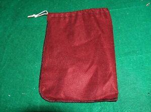Scrabble Tile Bag - Maroon cloth  w/Drawstring  letter bag