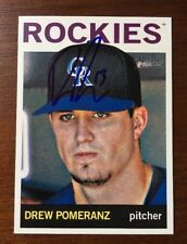 DREW POMERANZ 2013 TOPPS HERITAGE AUTOGRAPHED SIGNED AUTO BASEBALL CARD 329