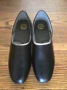 NEW Men's LB EVANS Black Leather Slip On Slipper Shoes SZ 12